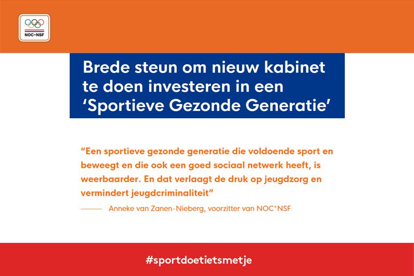 Manifest 'Sportieve Gezonde Generatie'