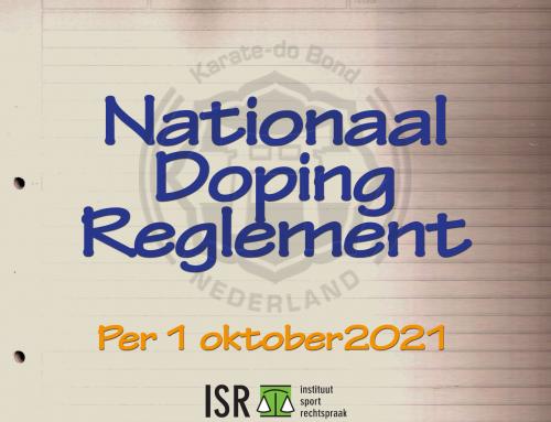 Aanpassing Nationaal Dopingreglement