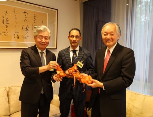 Karate Tulp aangeboden aan de Japanse Ambassadeur